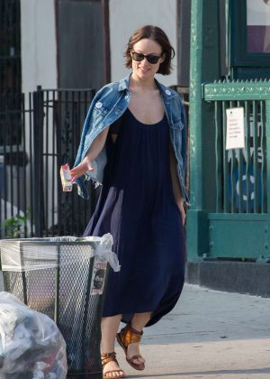 Olivia Wilde in Long Dress out in New York
