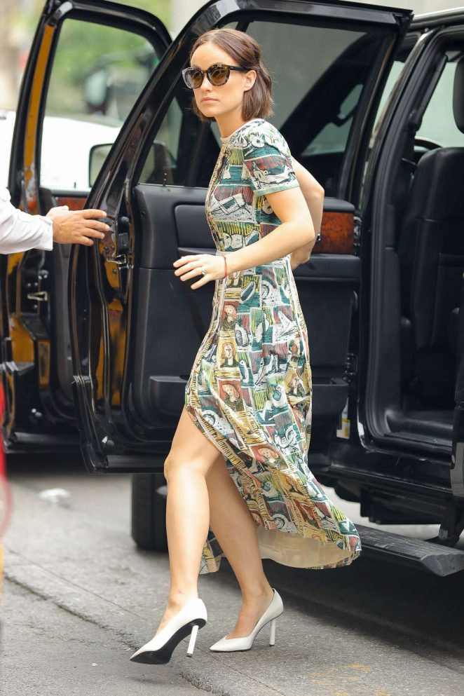 Olivia Wilde in Long Dress Out in NYC -02