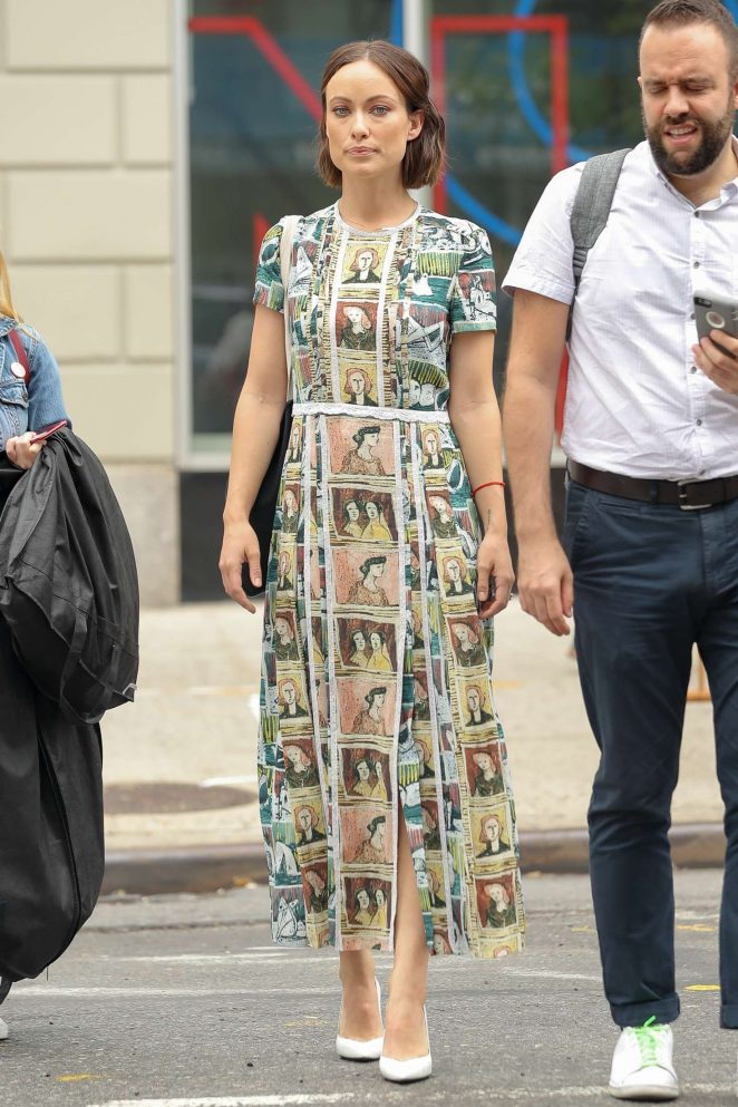 Olivia Wilde in Long Dress Out in NYC -13