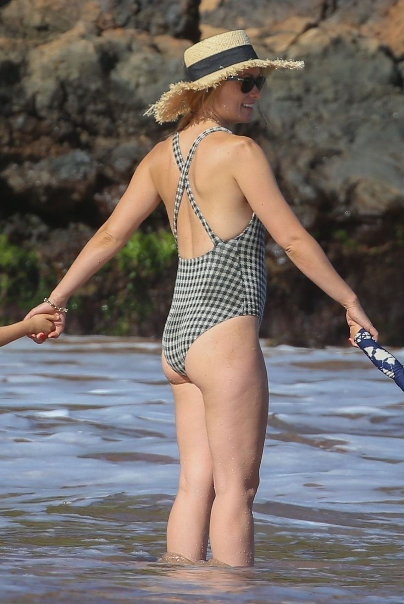 Olivia Wilde 2019 : Olivia Wilde: In one-piece swimsuit at the beach in Hawaii-34