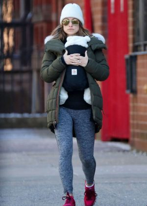 Olivia Wilde in Tights Out in New York