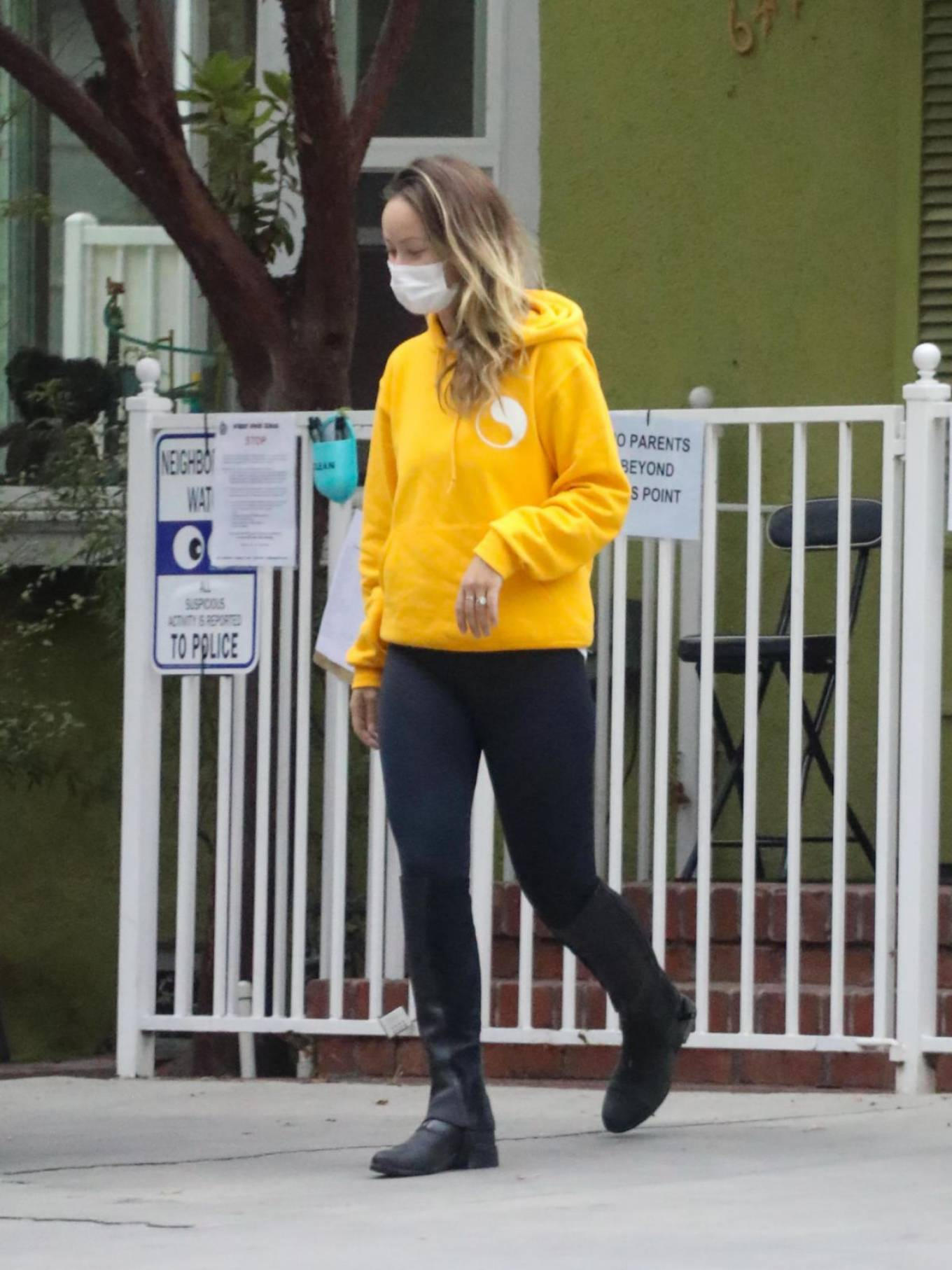 Olivia Wilde - In yellow out and about in LA