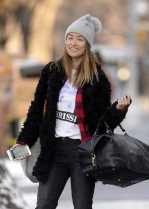 Olivia Wilde - Leaves Her Apartment in New York