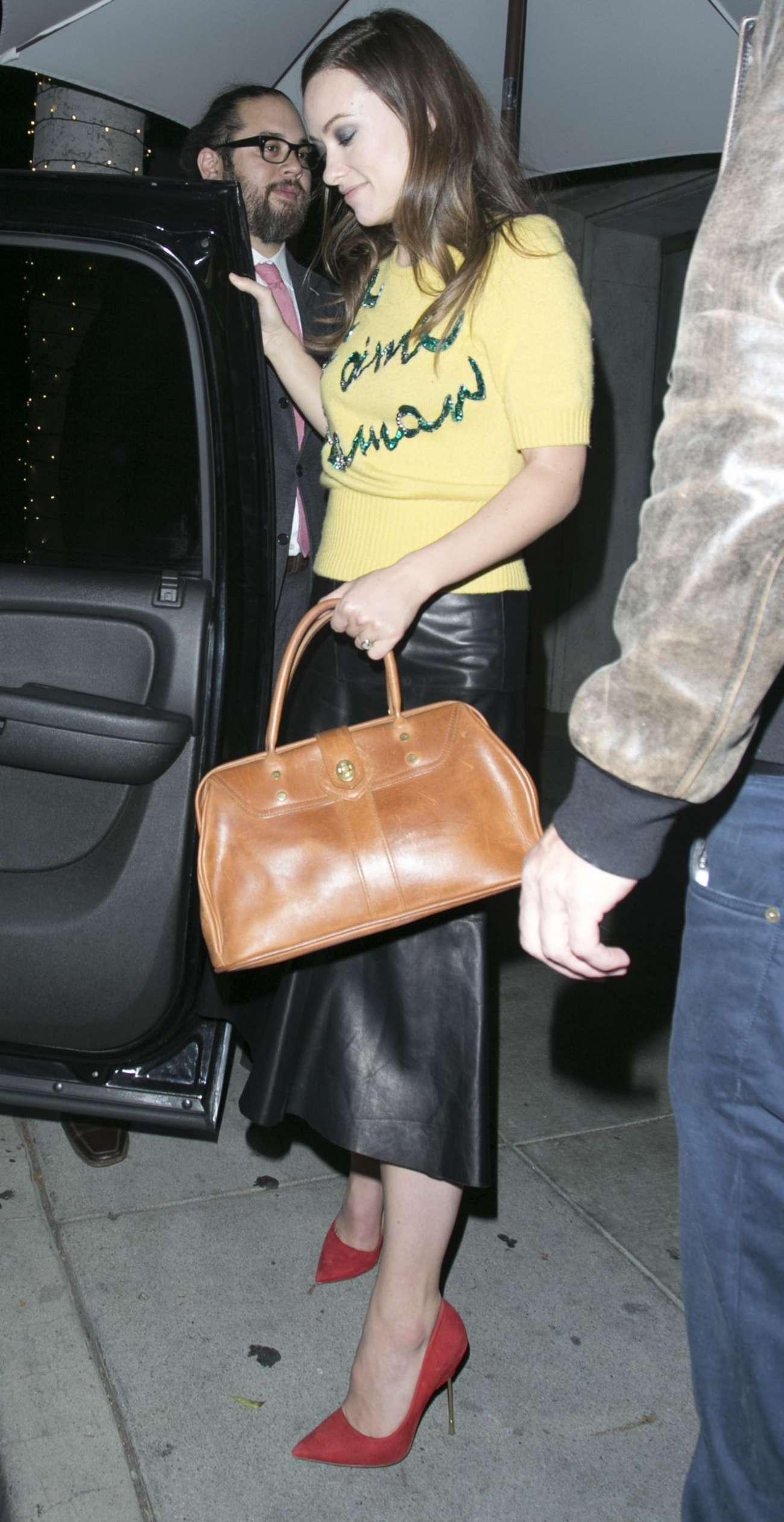 Olivia Wilde 2015 : Olivia Wilde in Leather Skirt -04