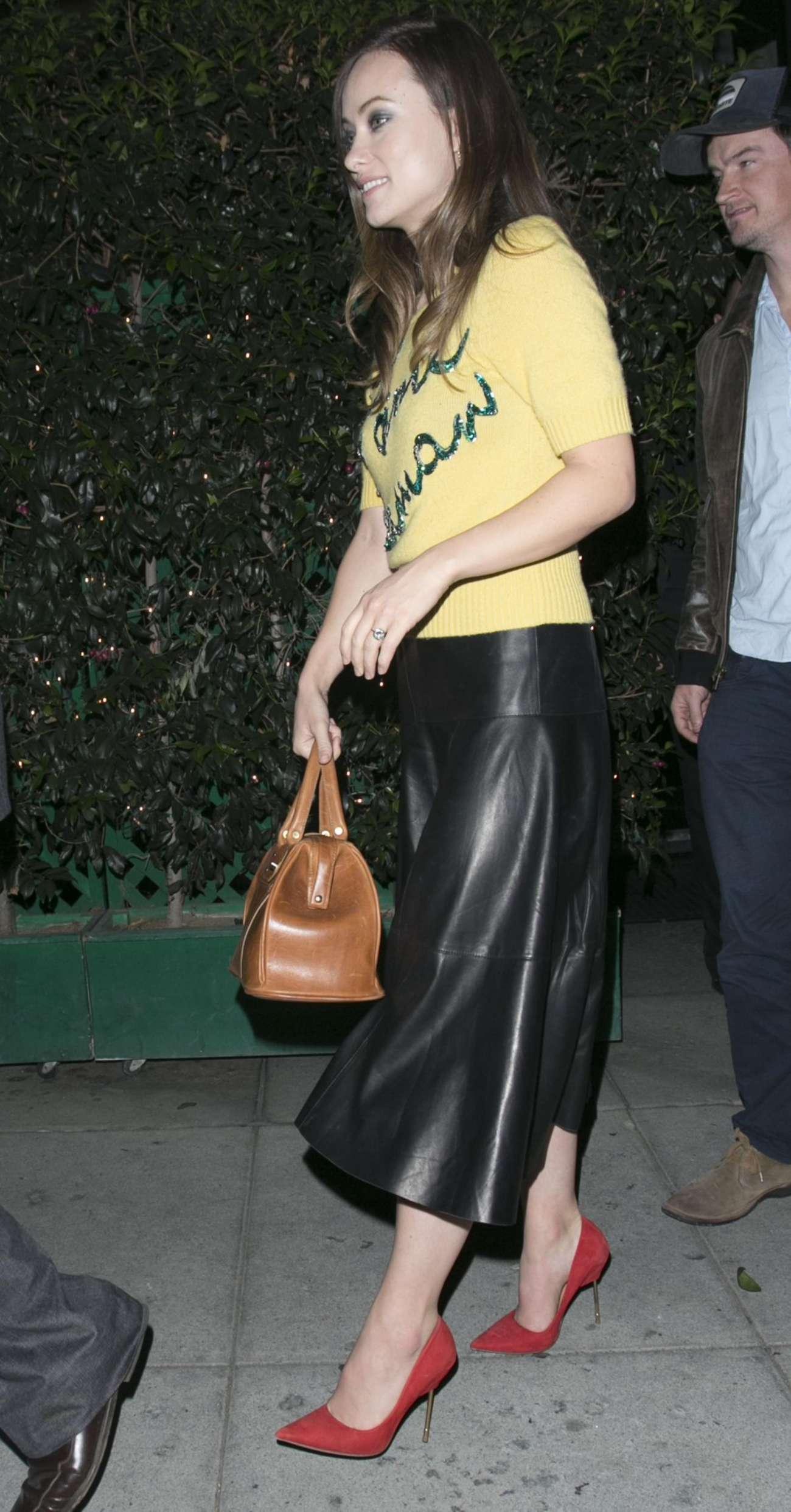 Olivia Wilde 2015 : Olivia Wilde in Leather Skirt -05