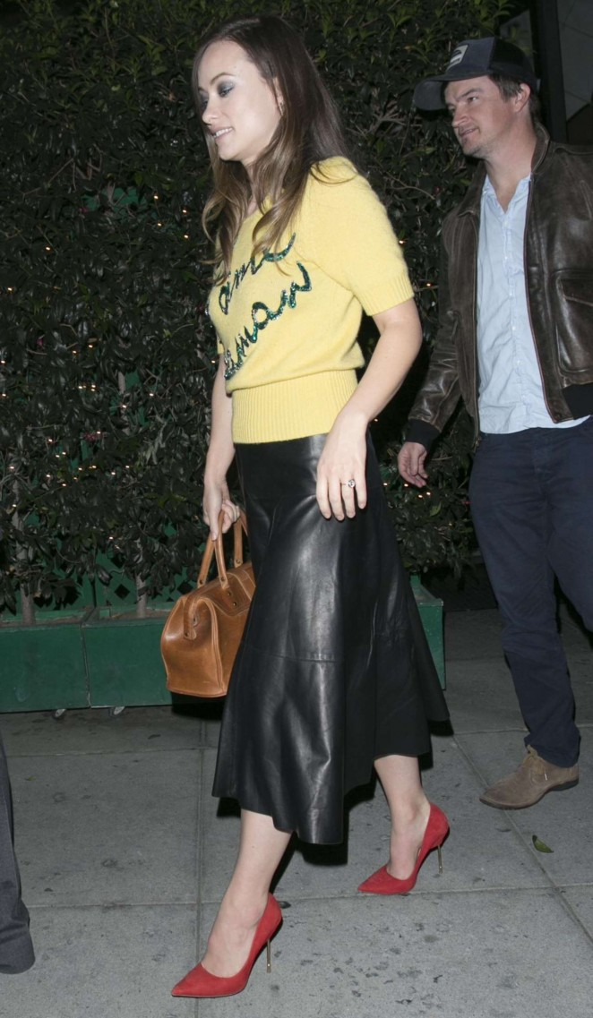 Olivia Wilde - Leaves Mr.Chow's Restaurant in Beverly Hills