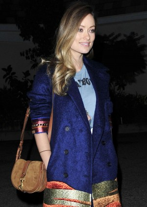 Olivia Wilde - Leaving a restaurant in Los Angeles