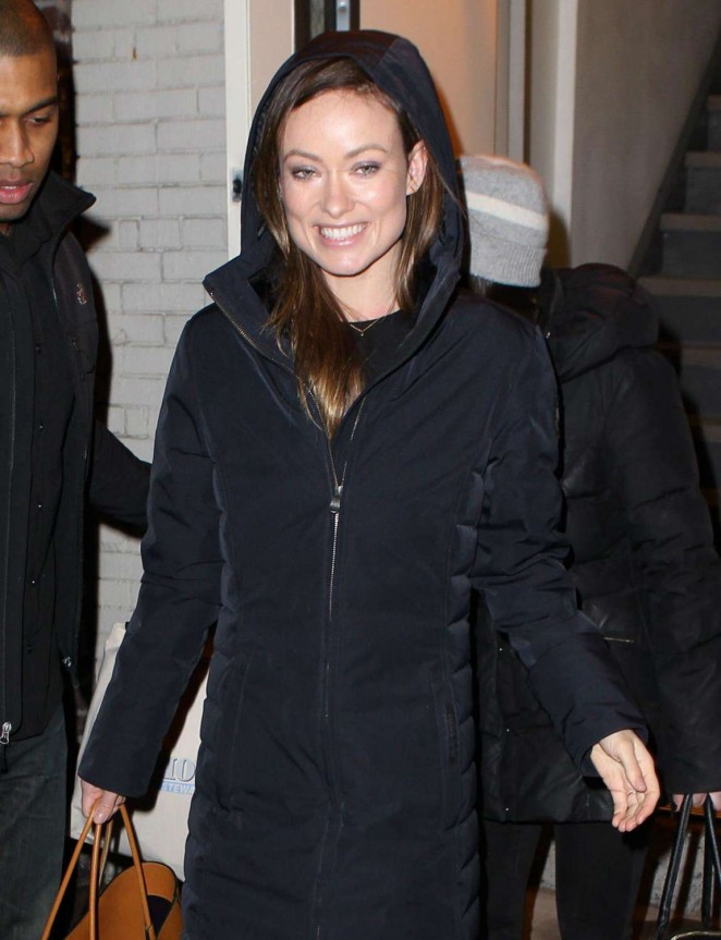 Olivia Wilde Leaving the Daily Show Studio -02