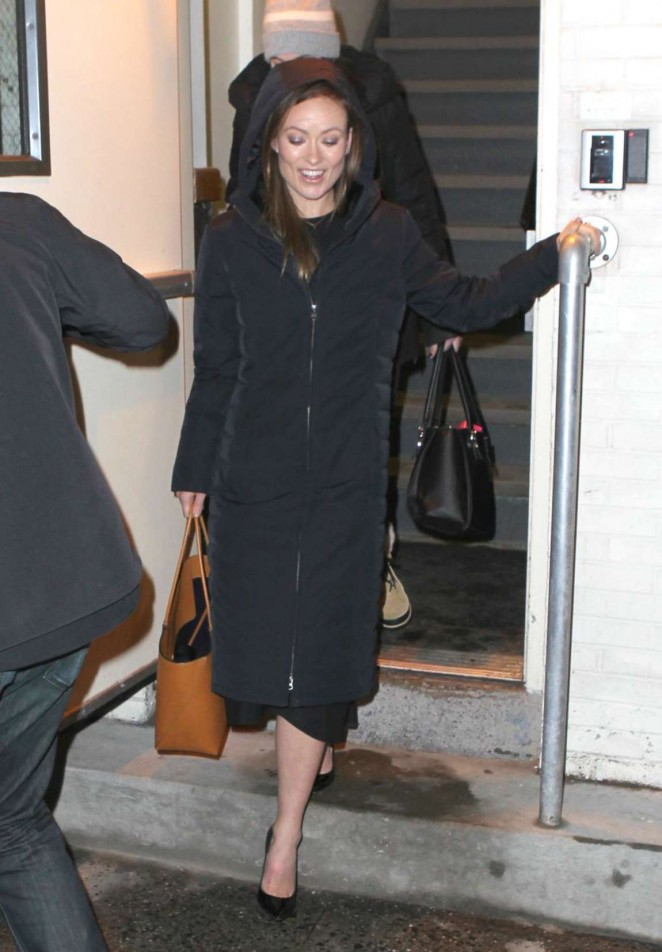 Olivia Wilde Leaving the Daily Show Studio -09