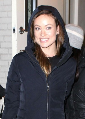 Olivia Wilde Leaving the Daily Show Studio in NYC