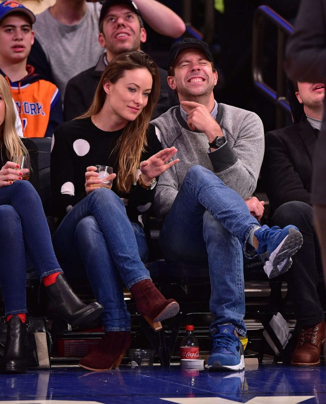 Olivia Wilde - New York Knicks vs. Los Angeles Clippers game in Madison Square Garden