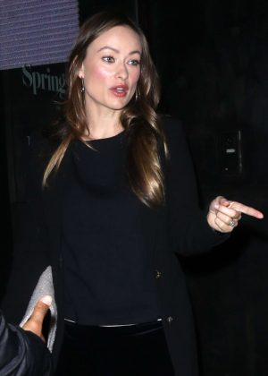 Olivia Wilde night out in New York City
