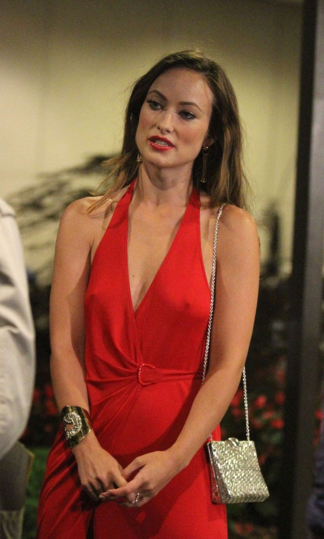 Olivia Wilde In Red Dress 08 Gotceleb