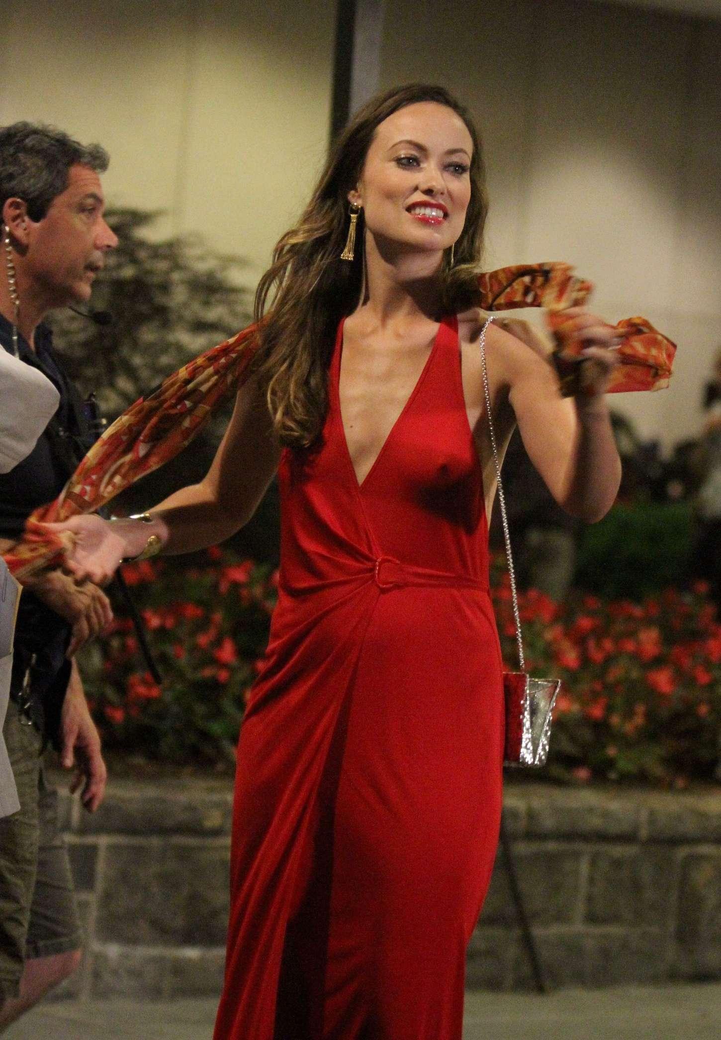 Olivia Wilde In Red Dress 09 GotCeleb