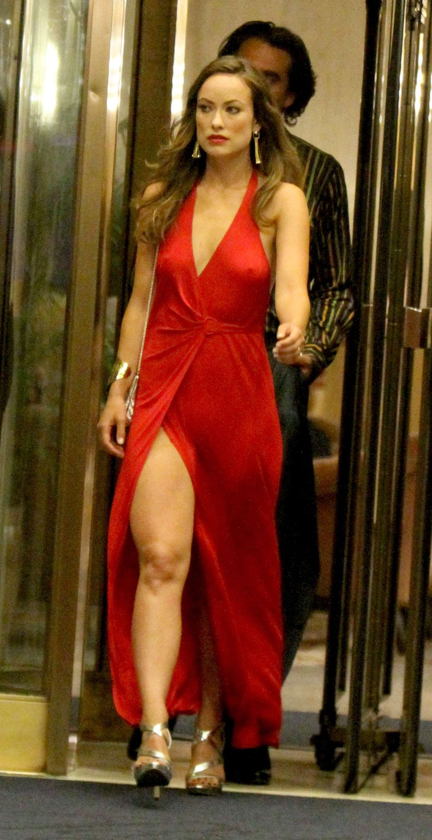 Olivia Wilde In Red Dress -19  Gotceleb-3378