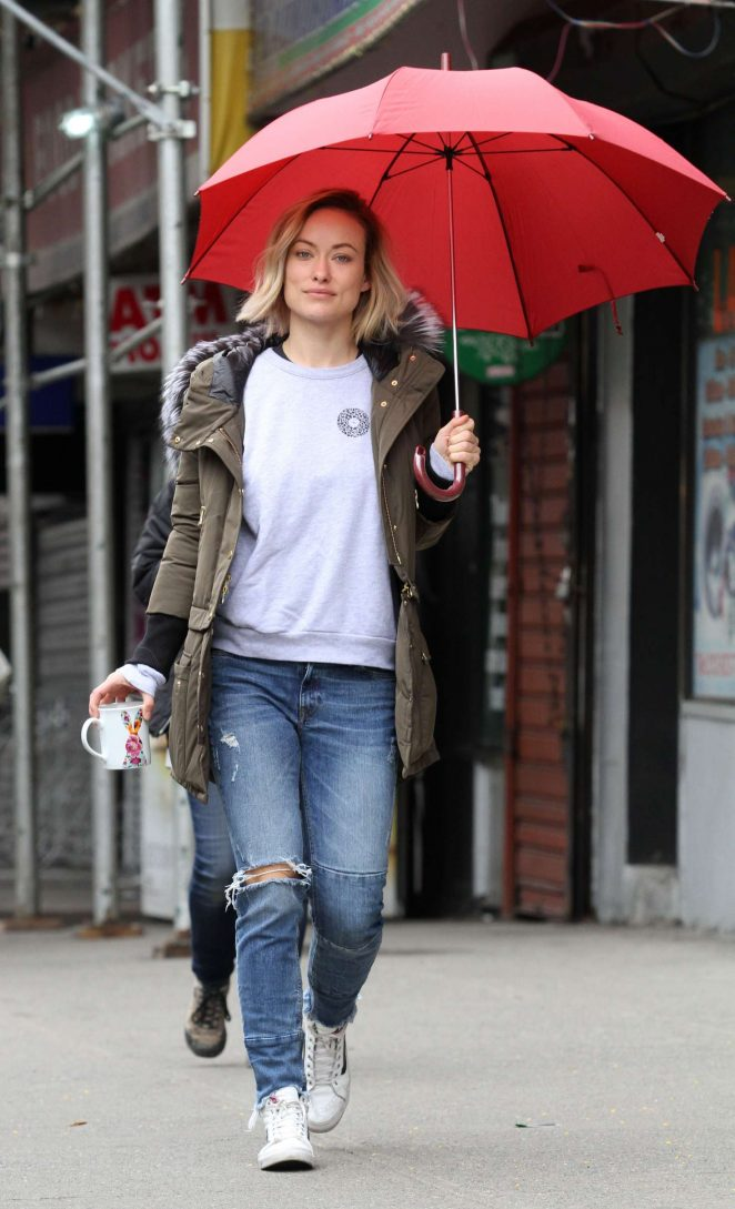 Olivia Wilde on the set of Life Itself -01
