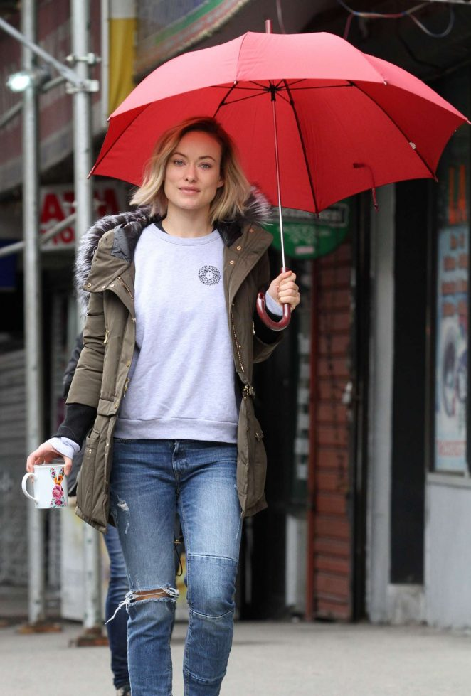 Olivia Wilde on the set of Life Itself -16