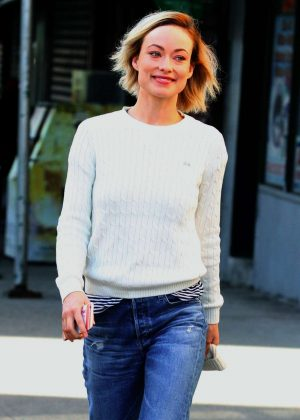Olivia Wilde on the set of 'Life Itself' in New York City