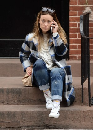 Olivia Wilde out in New York