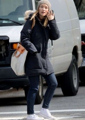 Olivia Wilde out in the East Village