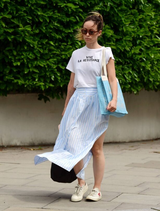 Olivia Wilde - Out in the summer dress in North London
