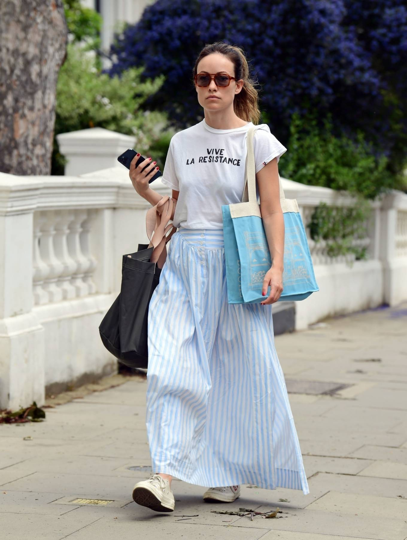 Olivia Wilde 2021 : Olivia Wilde – Out in the summer dress in North London-07