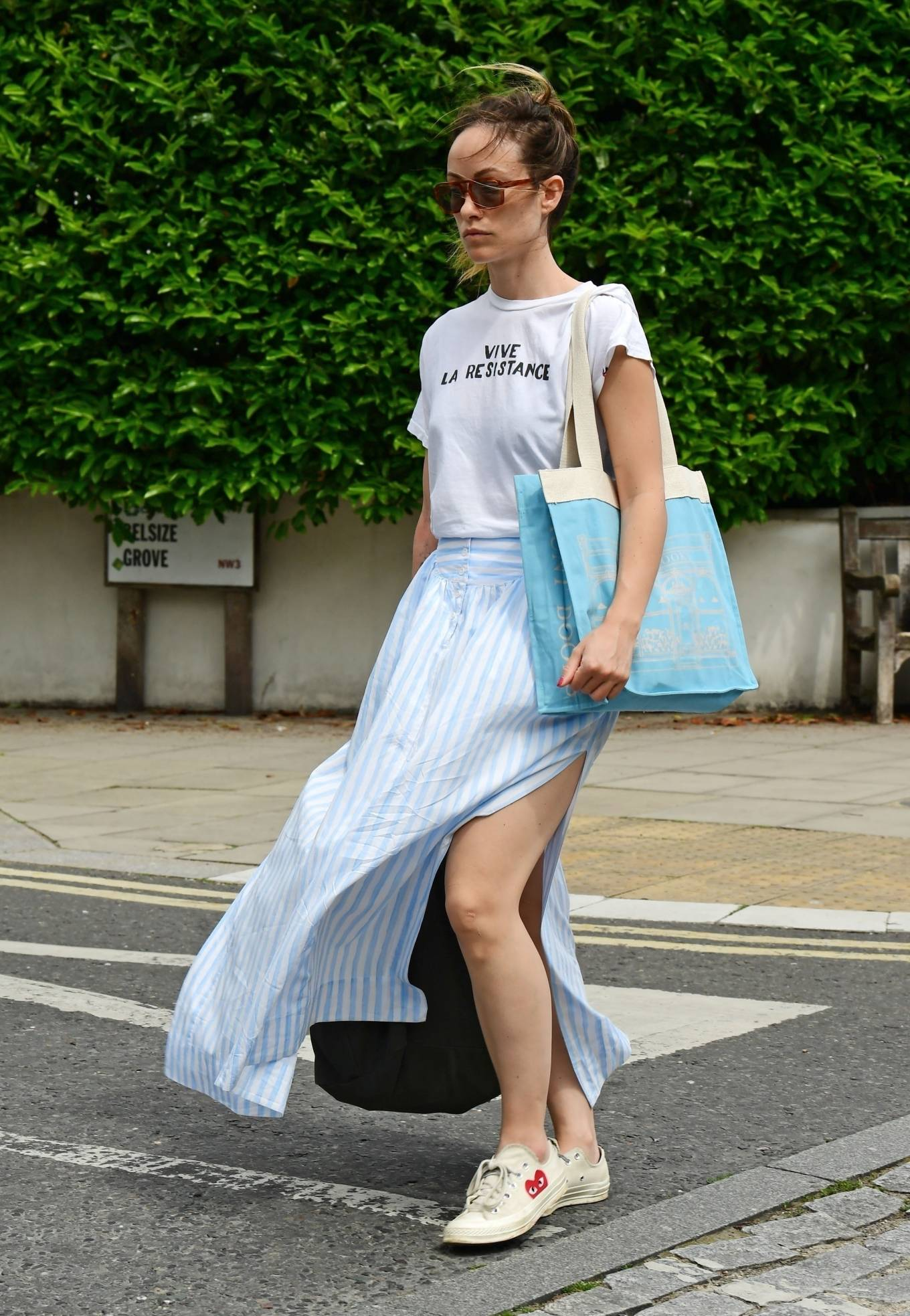 Olivia Wilde 2021 : Olivia Wilde – Out in the summer dress in North London-14