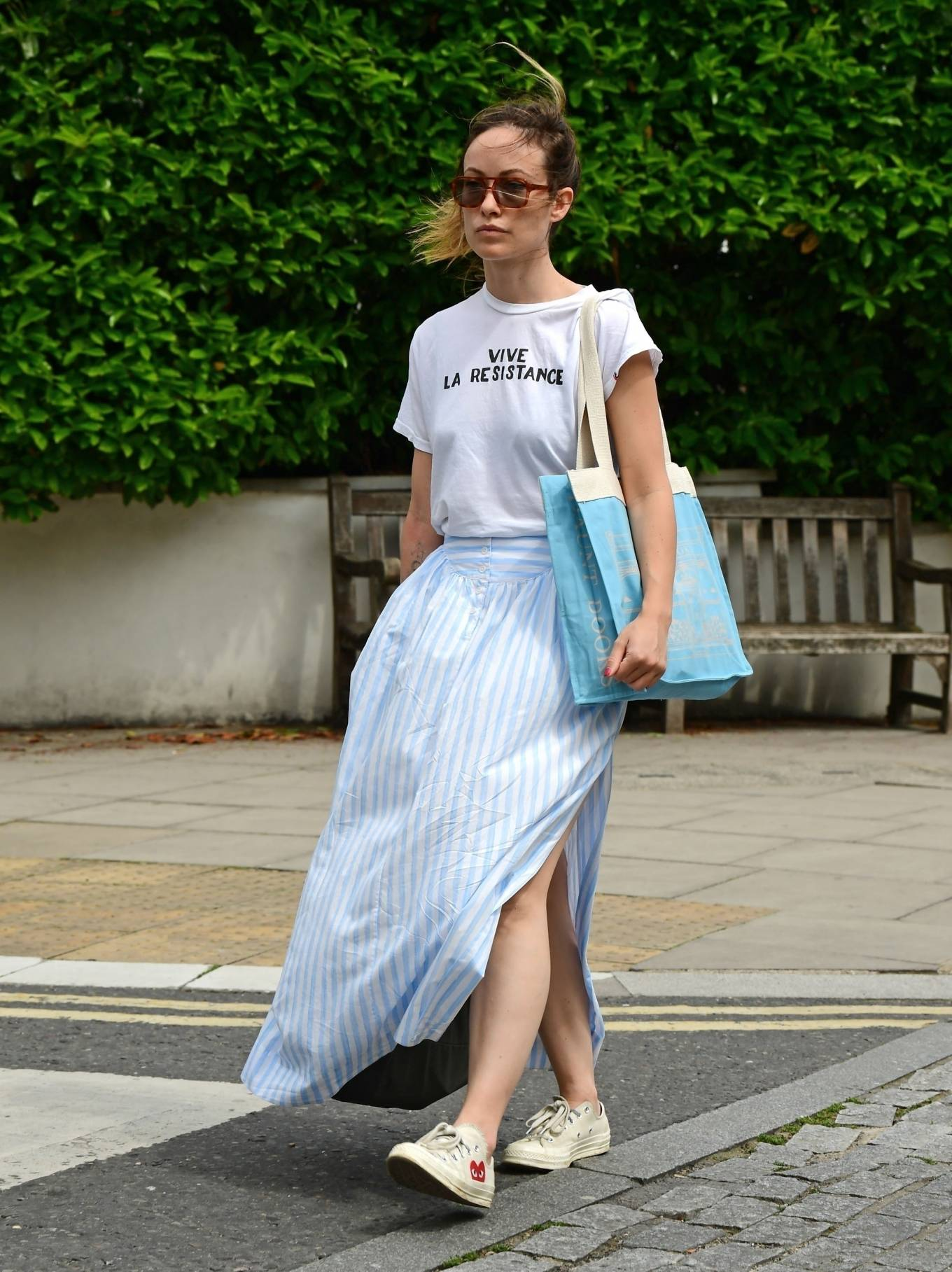Olivia Wilde 2021 : Olivia Wilde – Out in the summer dress in North London-15