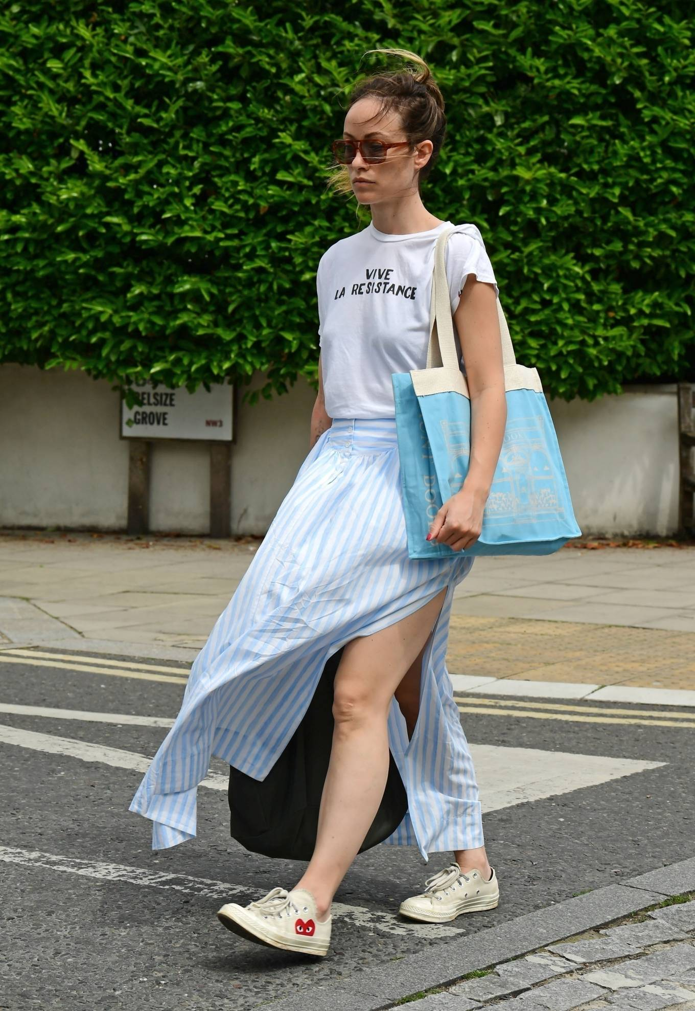 Olivia Wilde 2021 : Olivia Wilde – Out in the summer dress in North London-17