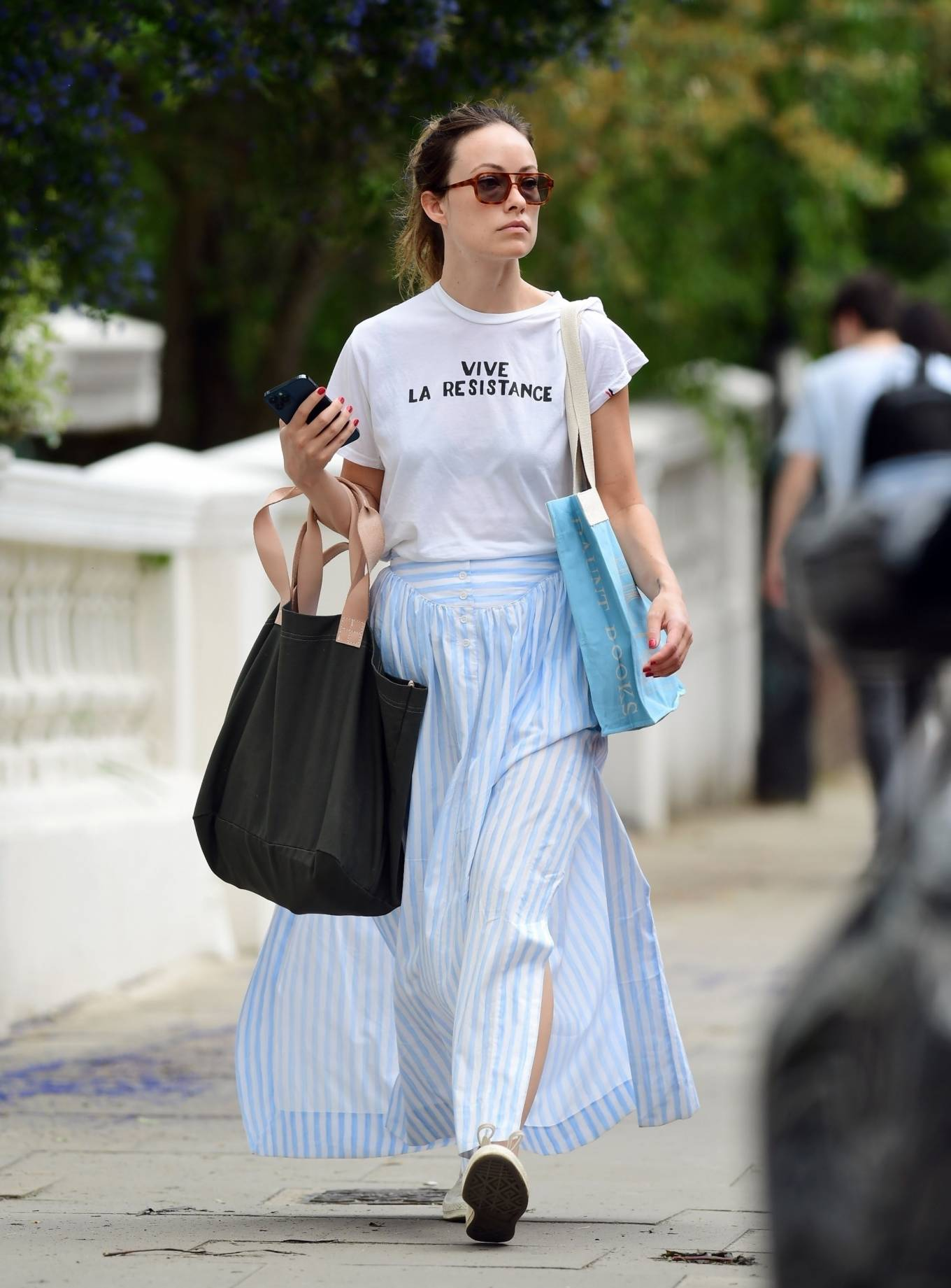 Olivia Wilde 2021 : Olivia Wilde – Out in the summer dress in North London-18