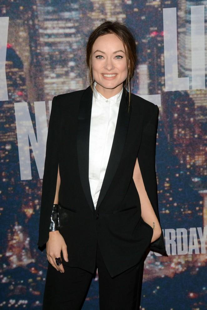 Olivia Wilde - SNL 2015 Anniversary Special in NY