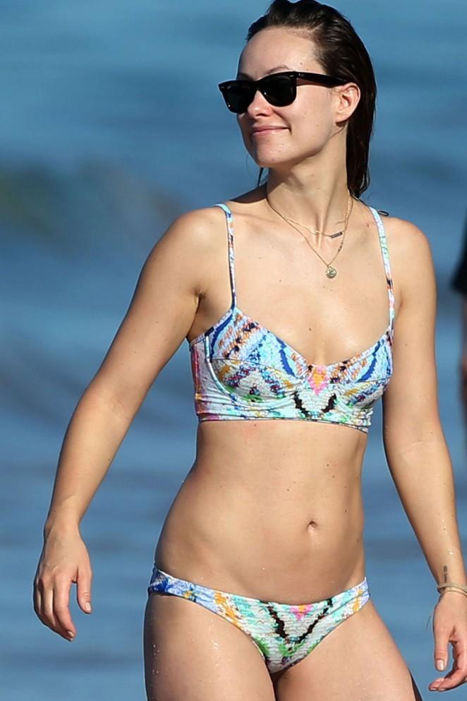 Olivia Wilde – Wearing Bikini while on vacation in Hawaii