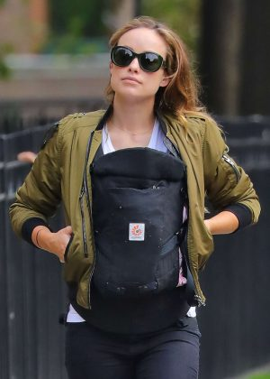 Olivia Wilde with baby Daisy out in Brooklyn