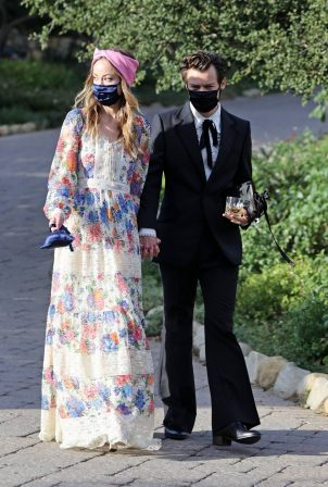 Olivia Wilde - With Harry Styles at his agent's wedding in Montecito