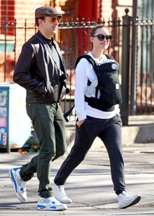 Olivia Wilde with her family in New York
