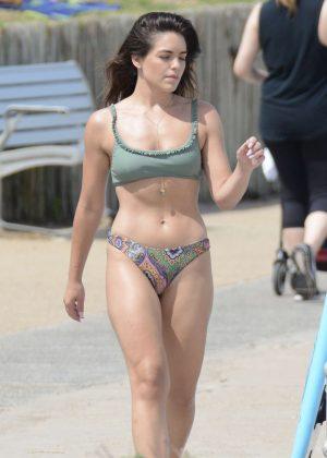 Olympia Valance in Bikini on Bondi Beach in Sydney