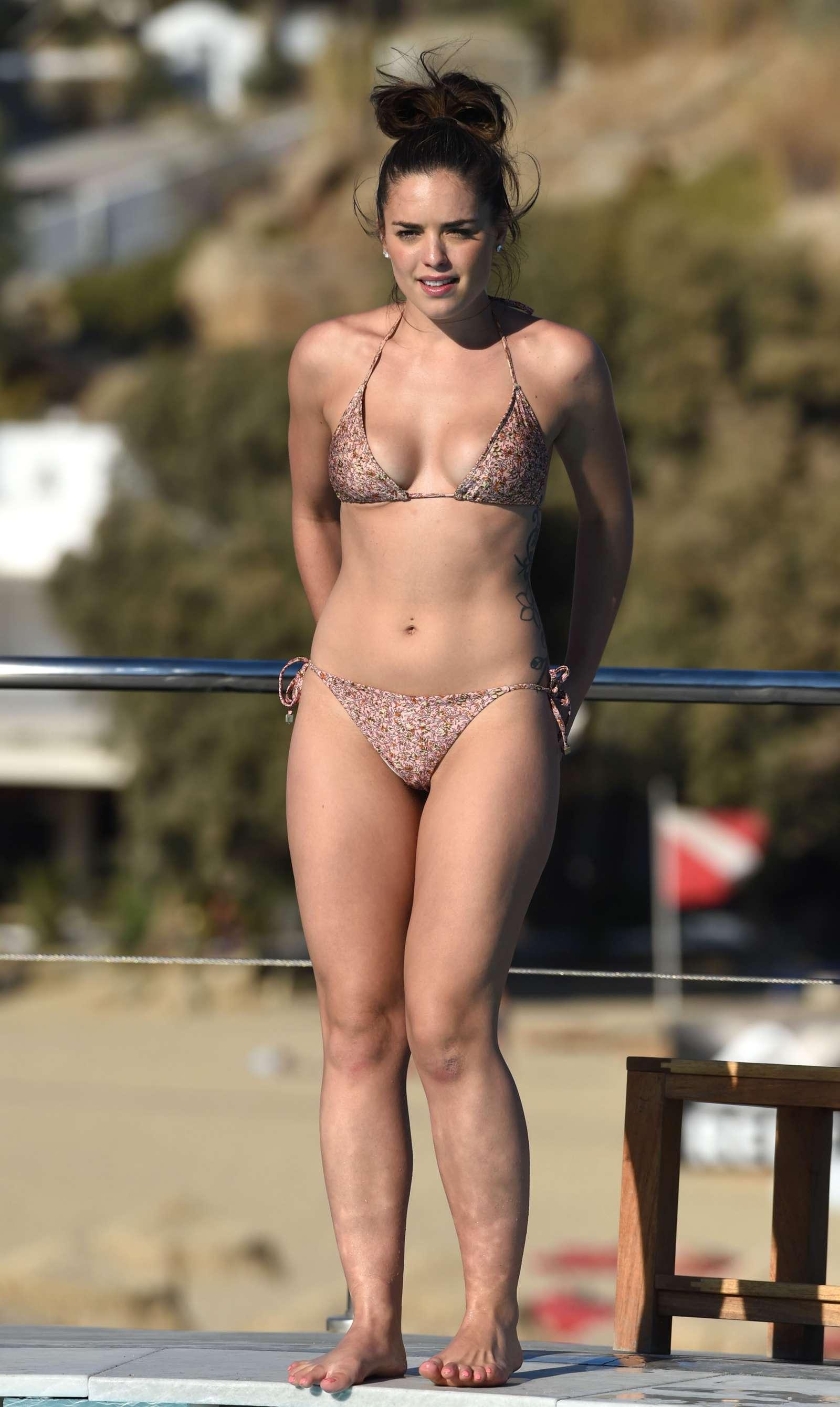 a skimpy bikini