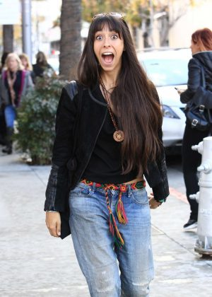 Oona Chaplin Shopping in Beverly Hills