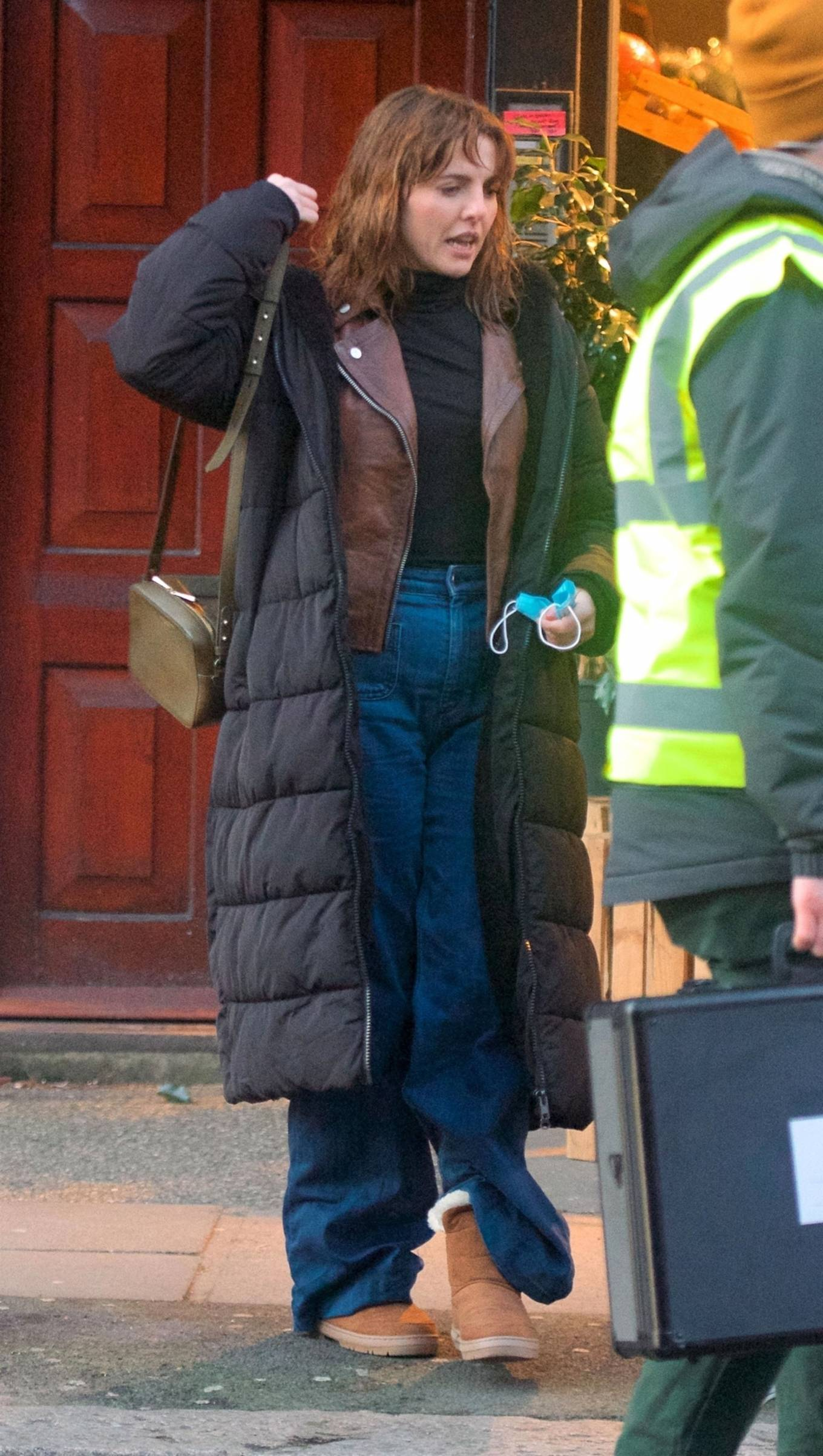 Ophelia Lovibond - On the set of the second series in Belsize Park in London