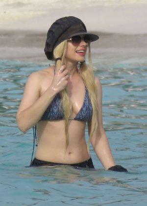 Orianthi Panagaris in a Bikini Top at the Beach