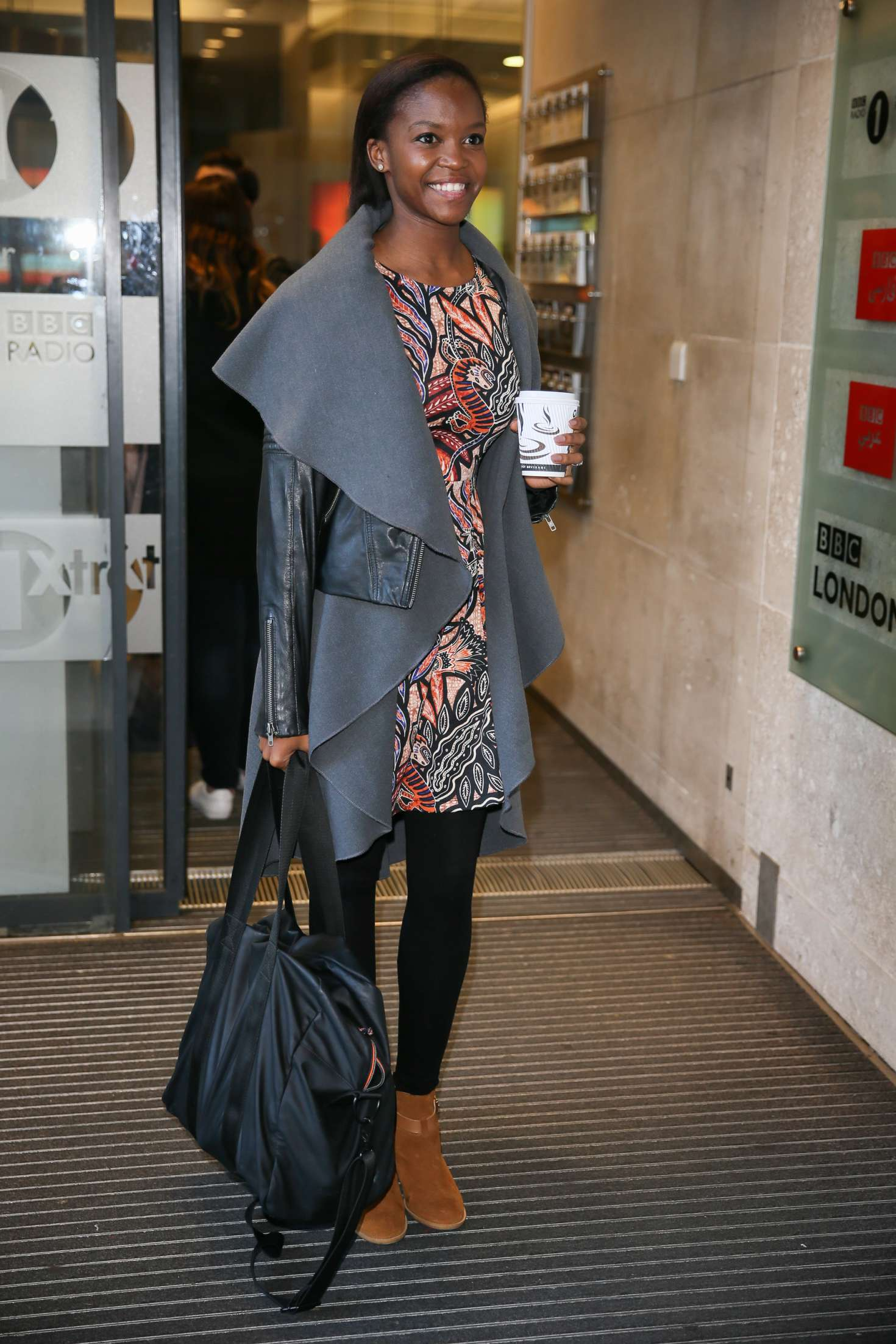 Otlile Mabuse Leaving BBC Radio One Studios in London