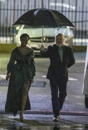 Otlile Mabuse - Strictly come dancing cast arrives at Elstree Studio in London