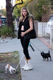 - Out walking her dogs in Los Angeles