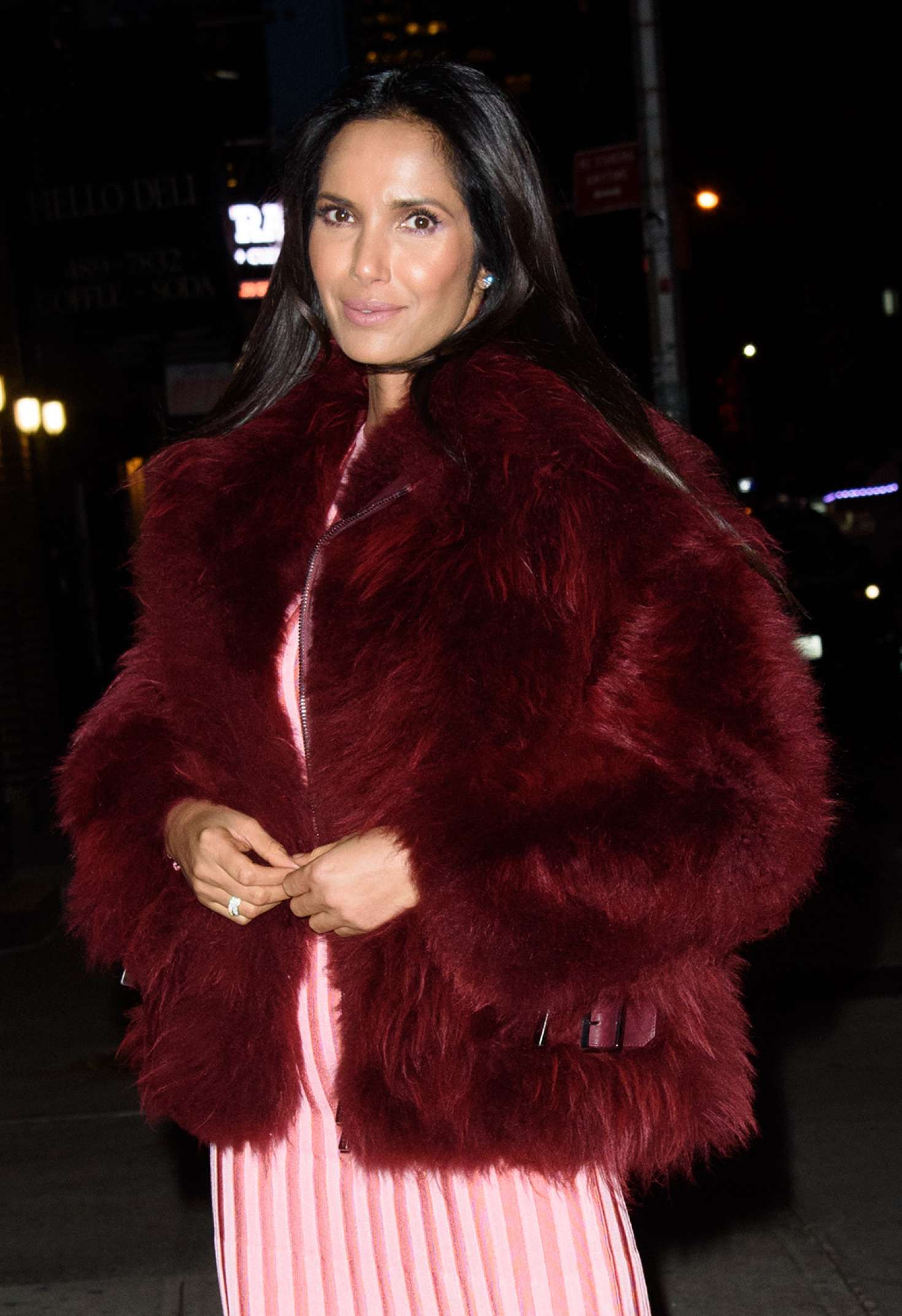 Padma Lakshmi - Arrives to 'Late Show with Stephen Colbert Show' in NY
