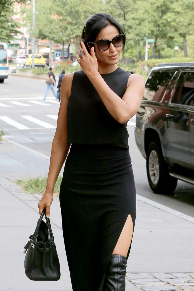Padma Lakshmi Arriving home in New York