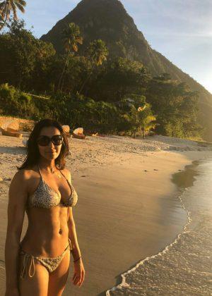 Padma Lakshmi in Bikini - Social Media Pics