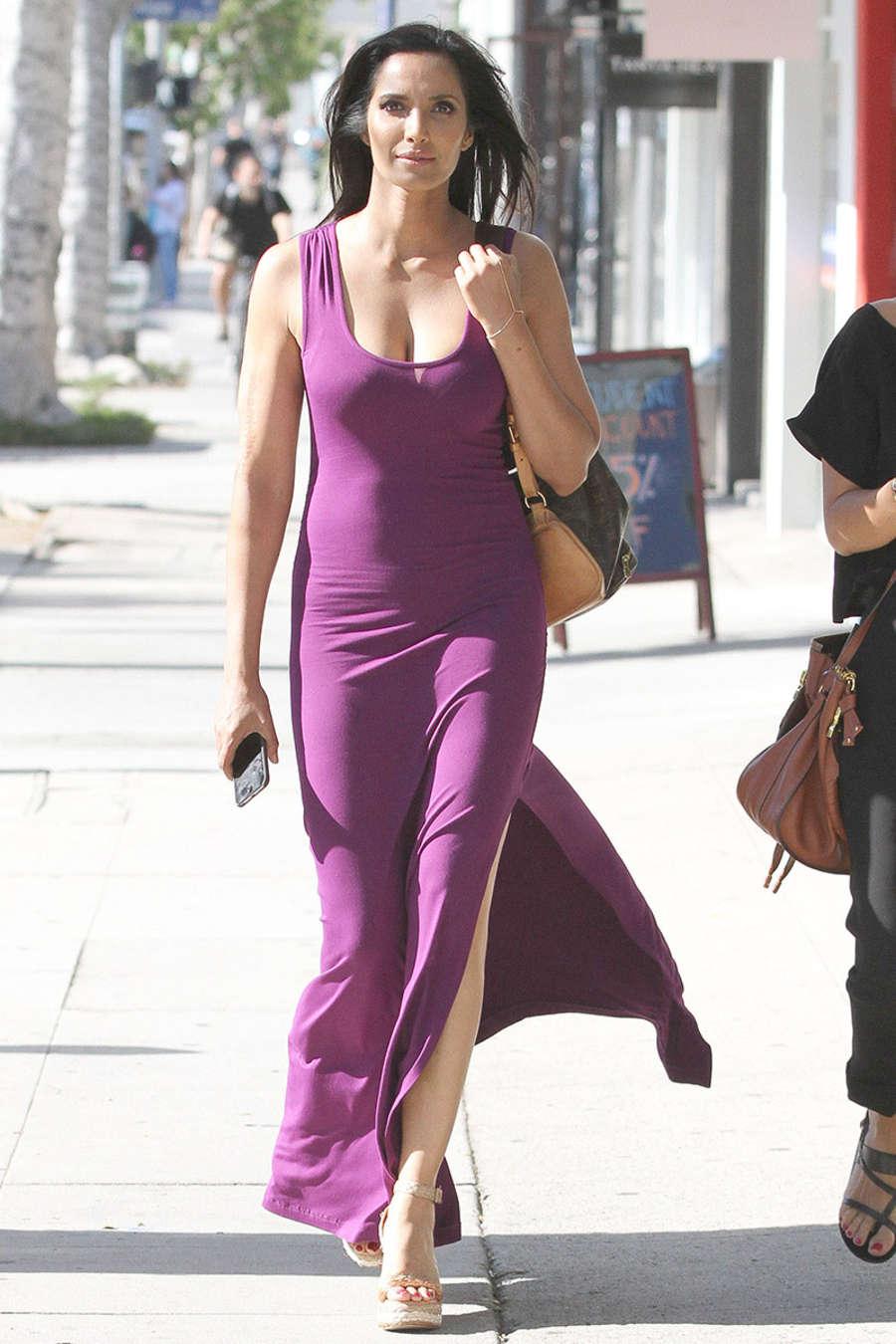 Padma Lakshmi In Purple Tight Dress 08 Gotceleb