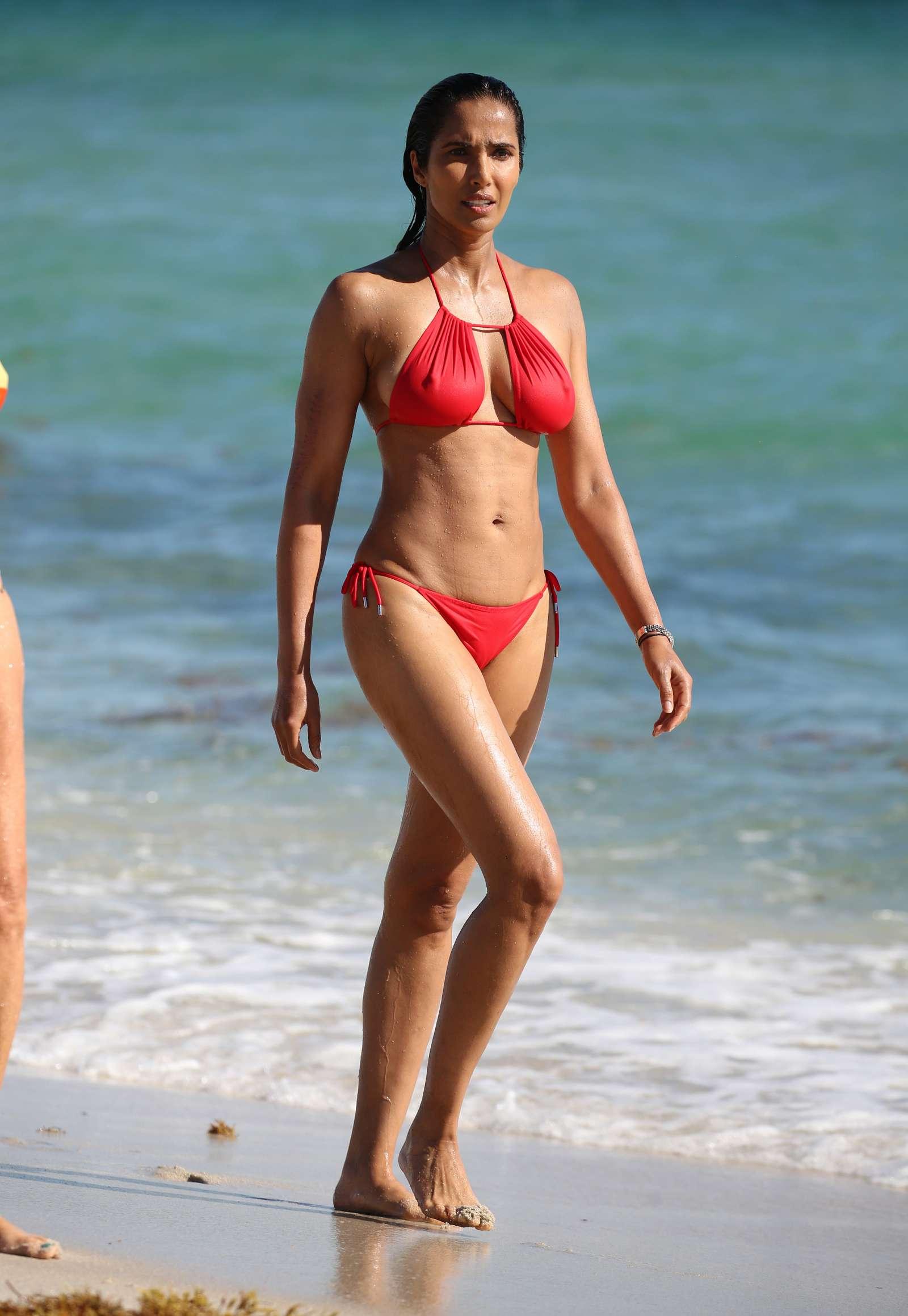 Padma Lakshmi 2019 : Padma Lakshmi in Red Bikini -14