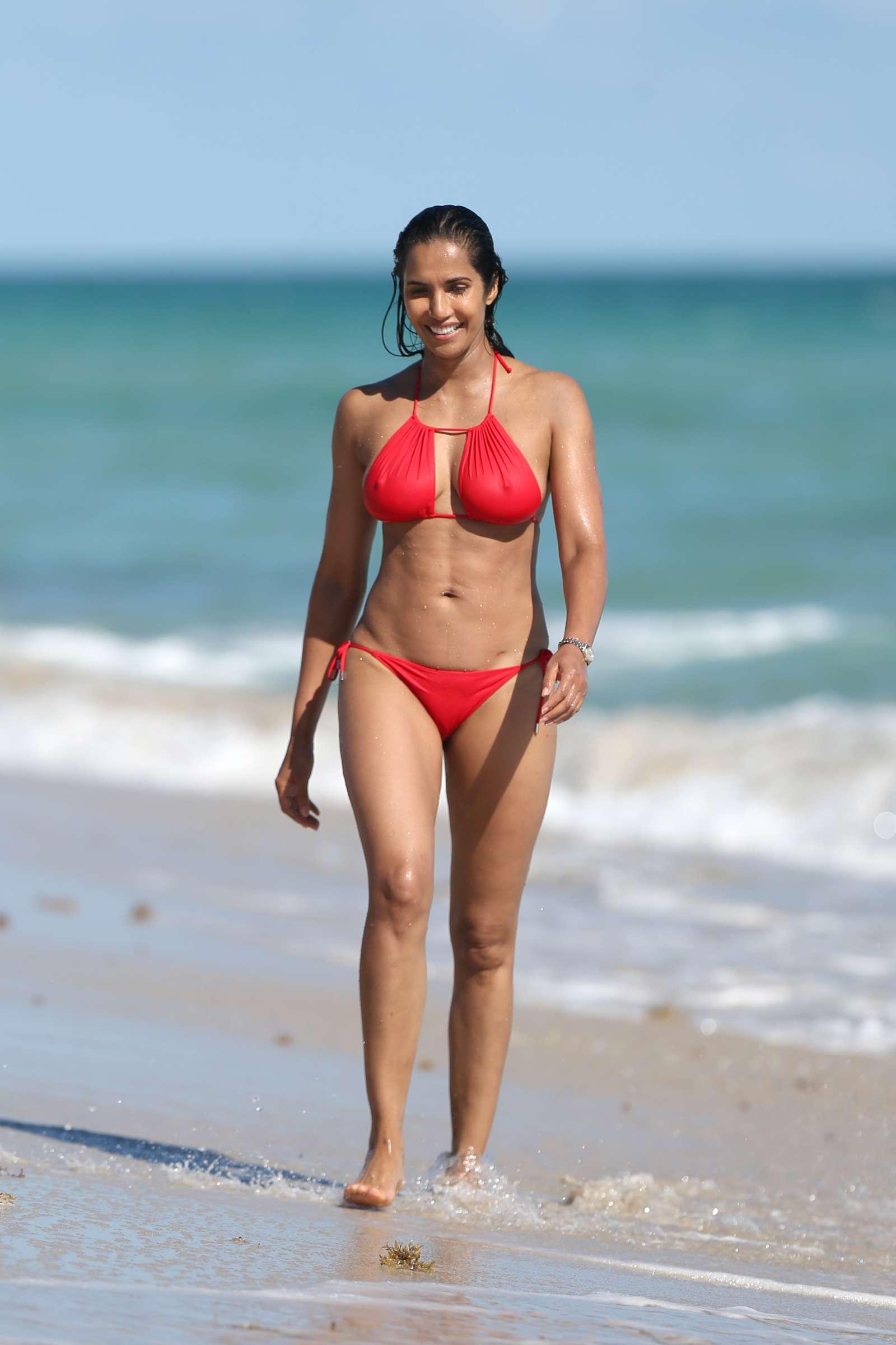 Padma Lakshmi 2019 : Padma Lakshmi in Red Bikini -19