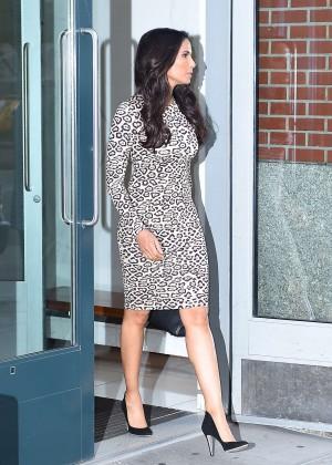 Padma Lakshmi In Tight Dress Leaving Her Apartment  08